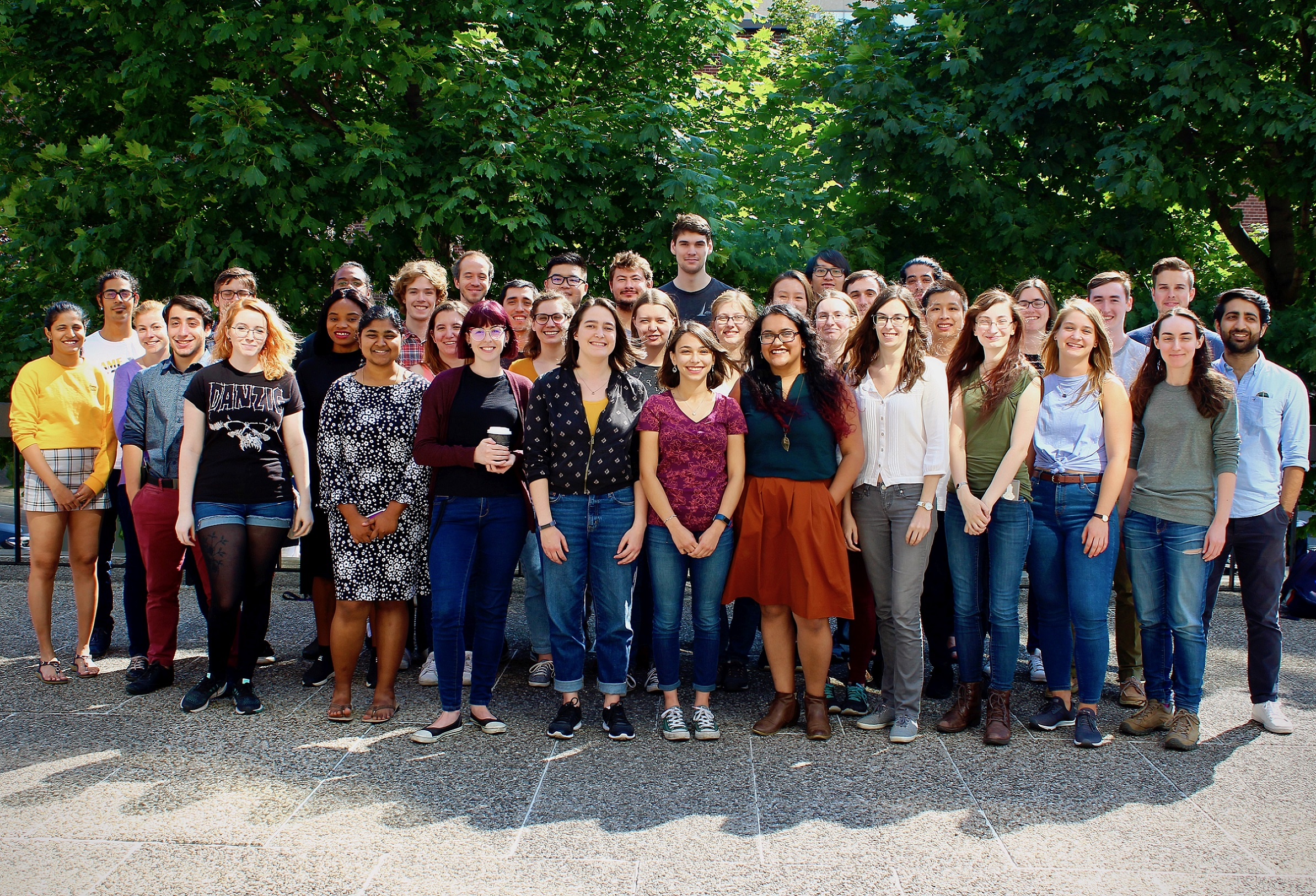 Graduate Students Group Photo (September 18, 2019,  courtesy Anna O'Grady)
